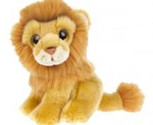 Un petit lion dans la savane