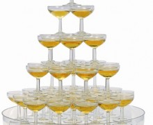 Champagne en cascade