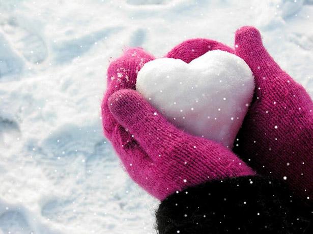 image amour neige